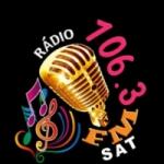 Logo da emissora Rádio 106.3 Sat FM
