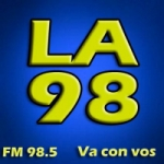 Logo da emissora Radio La 98.5 FM