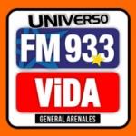Logo da emissora Radio Universo 93.3 FM