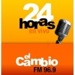 Logo da emissora Radio El Cambio 96.9 FM