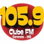Logo da emissora Rádio 105 FM Carandaí