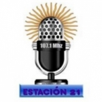 Logo da emissora Radio Estación 21 107.1 FM