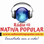 Logo da emissora Rádio Nativa Popular