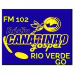 Logo da emissora Rádio Fm 102 Canarinho Gospel