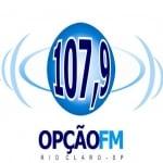 Logo da emissora Rádio Opção 107.9 FM