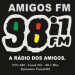 Logo da emissora Rádio Amigos  FM