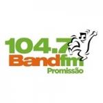 Logo da emissora Rádio Band 104.7 FM