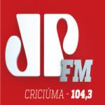 Logo da emissora Rádio Jovem Pan 104.3 FM