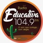 Logo da emissora Rádio Educativa 104.9 FM