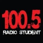 Logo da emissora Radio Student 100.5 FM