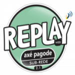 Logo da emissora Rádio Replay Axé