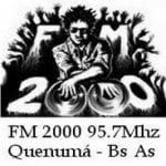 Logo da emissora Radio FM 2000 95.7 FM