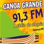 Logo da emissora Rádio Canoa Grande 91.3 FM