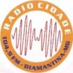 Logo da emissora Rádio Cidade Diamantina 104.9 FM