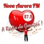 Logo da emissora Rádio Nova Aurora 87.9 FM