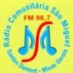 Logo da emissora Radio São Miguel 98.7 FM