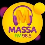 Logo da emissora Rádio Massa 98.5 FM