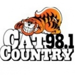 Logo da emissora Radio WCTK Cat Country 98.1 FM