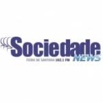 Logo da emissora Rádio Sociedade News 102.1 FM