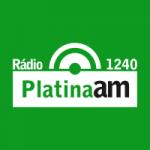 Logo da emissora Rádio Platina 1240 AM