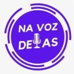 Logo da emissora Rádio Na Voz Delas