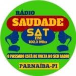 Logo da emissora Rádio Saudade  Sat Parnaíba Piauí