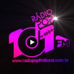 Logo da emissora Rádio Pop FM Litoral