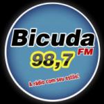 Logo da emissora Rádio Bicuda 98.7 FM