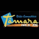 Logo da emissora Rádio Tamara 105.9 FM