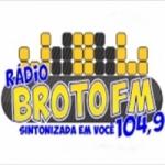 Logo da emissora Rádio Broto 104.9 FM