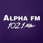 Logo da emissora Rádio Alpha 102.1 FM
