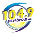 Logo da emissora Rádio Metrópole 104.9 FM
