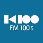 Logo da emissora K100 100.5 FM
