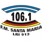Logo da emissora Radio Santa Maria 106.1 FM