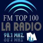 Logo da emissora Radio Top 100 98.1 FM