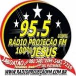 Logo da emissora Rádio Projeção 102.5 FM