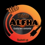 Logo da emissora Rádio Alfha