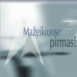 Logo da emissora Mazeikiu Aidas 100.4 FM