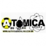 Logo da emissora Rádio Atômica FM