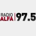 Logo da emissora Radio Alfa 97.5 FM
