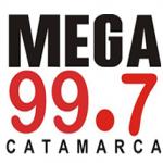 Logo da emissora Radio Mega 99.7 FM