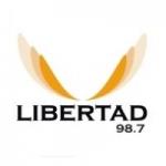 Logo da emissora Radio Libertad 98.7 FM