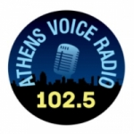 Logo da emissora Athens Voice Radio 102.5 FM