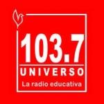 Logo da emissora Radio Universo 103.7 FM