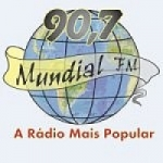 Logo da emissora Radio Mundial FM 90.7