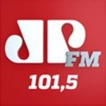 Logo da emissora Rádio Jovempan 101.5 FM