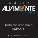 Logo da emissora Rádio Alvimonte 87.9 FM