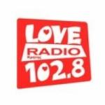 Logo da emissora Love Radio 102.8