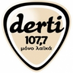 Logo da emissora Radio Derti 107.7 FM