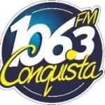 Logo da emissora Rádio Conquista 106.3 FM